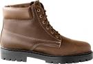 Kožená zimní obuv Farmářka hnědá, zateplená beránkem