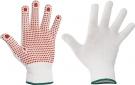 Pletené rukavice GANNET s PVC terčíky v dlani a na prstech