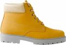 Kožená zimní obuv Farmářka písková, zateplená beránkem