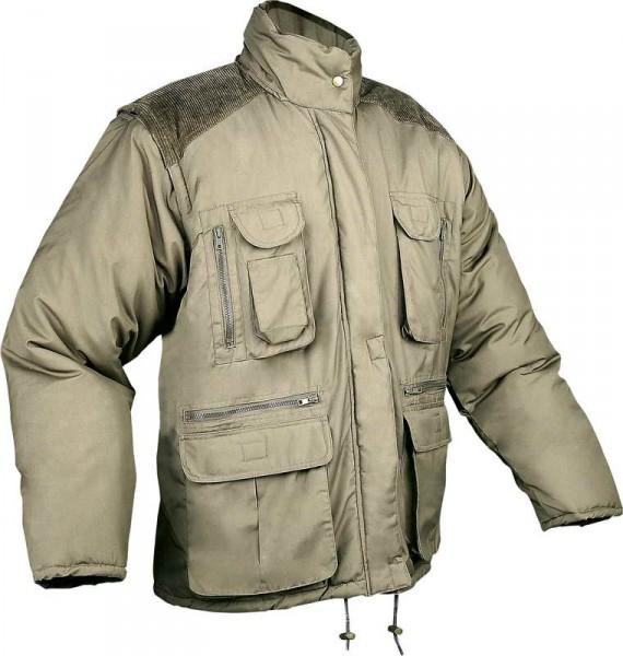 Zimní bunda HAPPY JOB FOREST zelená, s odepínatelnými rukávy