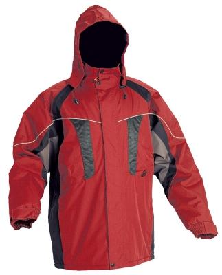 Zimní nepromokavá bunda NYALA červená, s kapucí