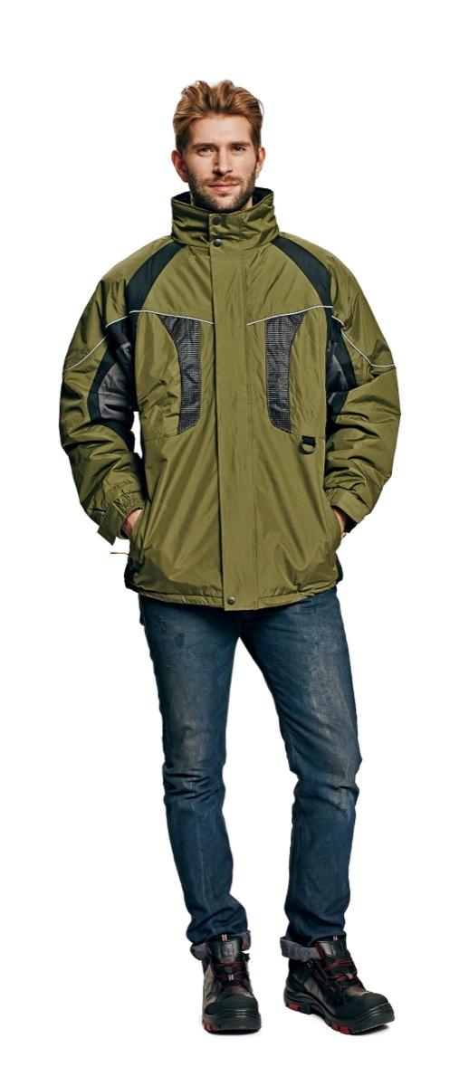 Zimní nepromokavá bunda NYALA zelená, s kapucí