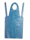Jednorázová zástěra s laclem modrá bal.100 ks