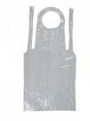 Jednorázová zástěra s laclem bílá bal. 100 ks