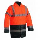 Zimní nepromokavá bunda SEFTON HV oranžová/navy