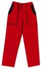 Montérkové kalhoty JOSEF LUXY červené, 100 % bavlna