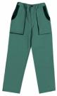Montérkové kalhoty JOSEF LUXY zelené, 100 % bavlna