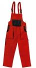 Montérkové laclové kalhoty ROBIN LUXY červené, 100 % bavlna
