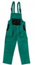 Montérkové laclové kalhoty ROBIN  LUXY zelené, 100 % bavlna