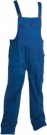 Montérkové laclové kalhoty MAX modro - černá, 100 % bavlna