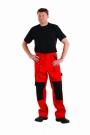 Montérkové kalhoty MAX červeno-černá, 100 % bavlna