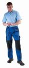 Montérkové kalhoty MAX modro - černá, 100 % bavlna