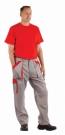 Montérkové kalhoty MAX šedo - červená, 100 % bavlna