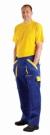 Montérkové kalhoty MAX modro - žlutá, 100 % bavlna