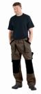 Montérkové kalhoty MAX hnědo - černá, 100 % bavlna
