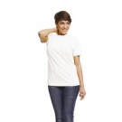 Bavlněné bílé tričko TEESTA s krátkým rukávem, UNISEX