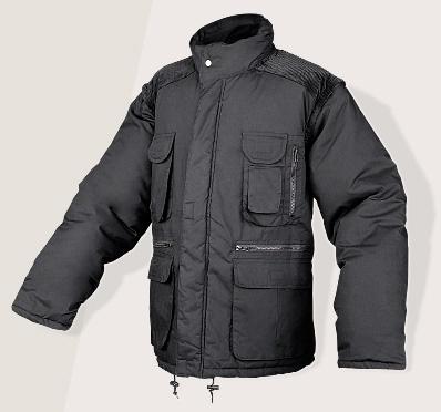 Zimní bunda HAPPY JOB FOREST černá, s odepínatelnými rukávy
