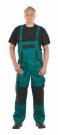 Montérkové laclové kalhoty MAX zeleno - černá, 100 % bavlna