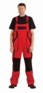 Montérkové laclové kalhoty MAX červeno - černá, 100 % bavlna