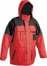 Zimní nepromokavá bunda ULTIMO červeno-černá, s kapucí