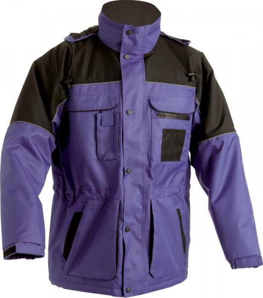 Zimní nepromokavá bunda ULTIMO modro-černá, s kapucí