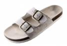 Korkové pantofle PUDU bílé, s koženým svrškem