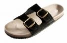 Korkové pantofle PUDU černé, s koženým svrškem
