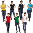 Dámské bavlněné tričko SURMA LADY s krátkým rukávem - RŮZNÉ BARVY