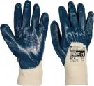 Pracovní rukavice Harrier, polomáčené v nitrilu