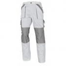 Montérkové kalhoty MAX bílo šedá, 100% bavlna