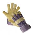 Kombinované rukavice TERN ECO, hovězí štípenka