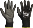 Pracovní rukavice Bunting EVOLUTION Black, polyuretan na dlani a prstech- minimální odběr 12 párů