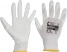 Pracovní rukavice BUNTING EVO, bílé, polyester máčený v PU
