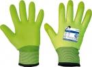 Pracovní zateplené rukavice TURTUR, nylon s PVC nánosem