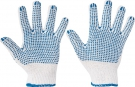 Pracovní rukavice Quail, PVC terčíky na dlani a prstech