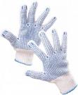 Pracovní rukavice Quail ECO, PVC terčíky na dlani a prstech