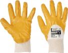 Pracovní rukavice Harrier žlutý, polomáčené v nitrilu