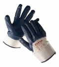 Pracovní rukavice Ruff, polomáčené v nitrilu