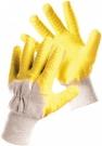 Rukavice HS-04-005 polomáčené, latex na dlani a prstech