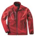 Softshelová bunda ACTIVE červená, s elastanem