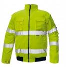 Reflexní výstražná bunda 2v1 CLOVELLY žlutá, nepromokavá