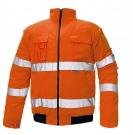 Reflexní výstražná bunda 2v1 CLOVELLY oranžová, nepromokavá