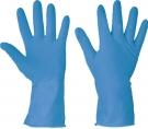 Latexové rukavice STARLING BLUE vhodné na úklid nebo pro potravinářský průmysl-min.odběr 12 párů