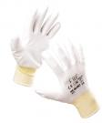 Pracovní rukavice BUNTING Light, bílé, polyester s PU