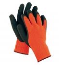 Zateplené rukavice PALAWAN WINTER, nylon s latexem, oranžovo-černá