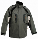 Zimní nepromokavá bunda NYALA šedá, s kapucí