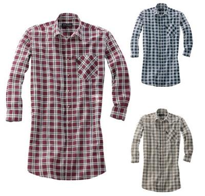 Prodloužená flanelová košile MONTANA -jen vel.41/42-2ks, vel.45/46-3ks