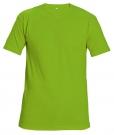 Bavlněné tričko TEESTA FLUO zelená, s krátkým rukávem, UNISEX