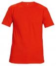 Bavlněné tričko TEESTA FLUO červená, s krátkým rukávem, UNISEX