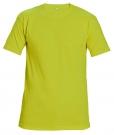 Bavlněné tričko TEESTA FLUO žlutá, s krátkým rukávem, UNISEX